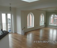 Interior Lounge-Dining- Arched Windows