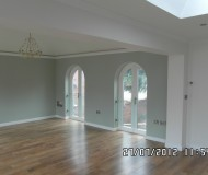 Interior Lounge-Dining- Arched Windows-Doors