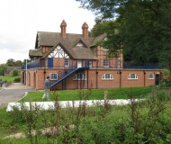 Side view of Pengwern Boat Club