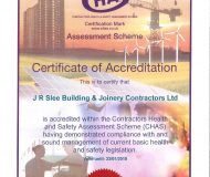 CHAS certificate
