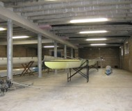 Inside the new double boat bay