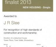 LABC Finalist 2013 - New Housing