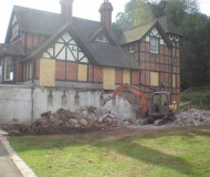 Demolition of the old structure