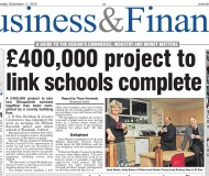 £400,000 project to link school complete