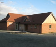 Ryton VIllage Hall exterior view from the property