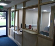 Internal alterations - Reception area.