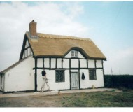 Extensive restoration and repairs to a thatched Cottage, Shropshire after fire damage.
