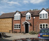 Front elevation with new 2 storey extension