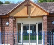 Front View - Cross detail - Elim Church Telford