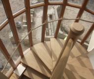Internal view of stunning spiral stair case
