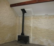 Internal view showing the new flue