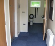New corridor and toilets