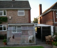 Property before extension and new conservatory